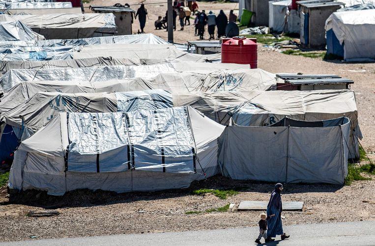 Kamp Roj in Noord-Oost-Syrië. Beeld AFP