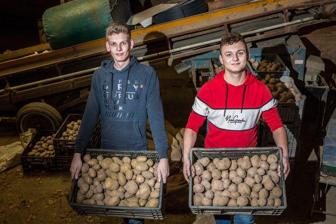 Mels Kooij (links) en Bas Peeters krijgen er wekelijks klanten bij.
