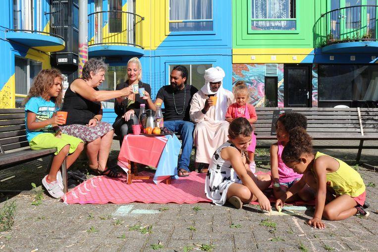Vanzelfsprekende diversiteit in de Bijlmer. Beeld Jeltje van Nuland