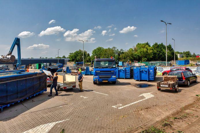 De milieustraat aan De Hak in Dongen.