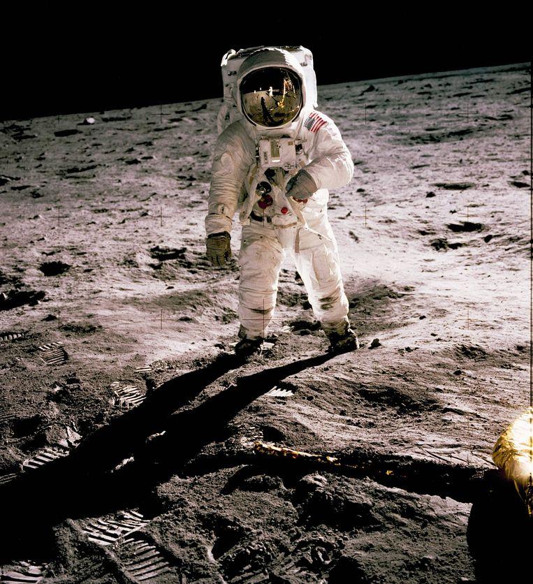 Tweede man op de maan (Neil Armstrong, de maan, 1969). Beeld AFP