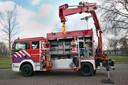Voorbeeld van een hulpverleningswagen van de brandweer.