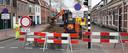 Ook aan de kant van de Westersingel zit de centrumring goed op slot.