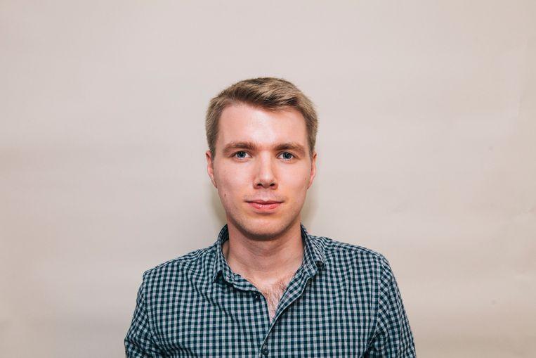 Tom Vennink, correspondent in Rusland voor de Volkskrant. Beeld Marcel Wogram
