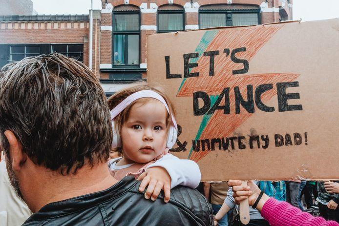 Foto gemaakt tijdens de Unmute US-demonstratie, afgelopen zaterdag in Tilburg.