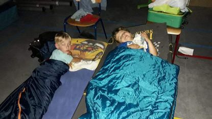Sleep-over in nieuwe school