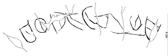 Dit zijn de inscripties in het potje.