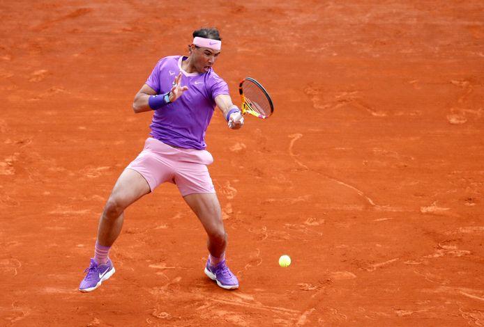Rafael Nadal in actie.