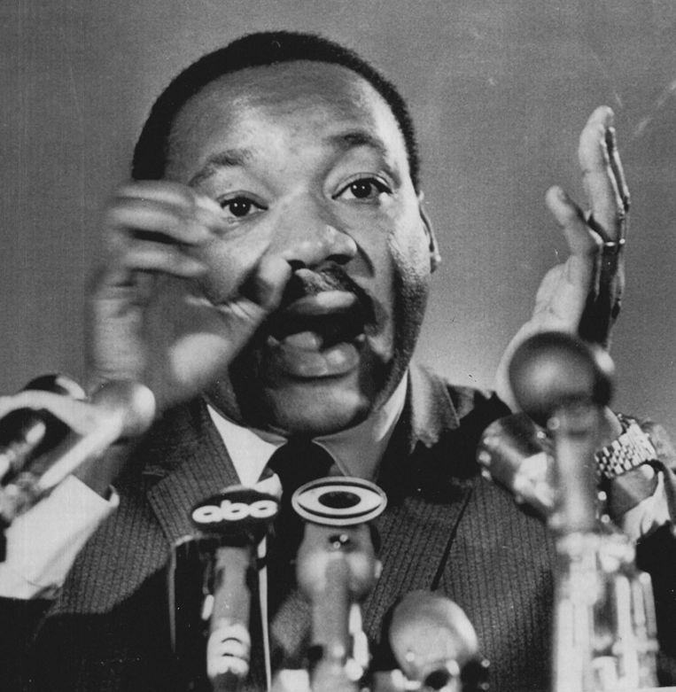Martin Luther King in 1962, bij het bekendmaken van de plannen voor een grote demonstratie in Washington Beeld EPA