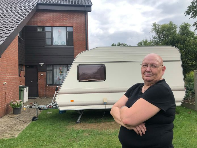 Bernadette Verkerk verblijft voorlopig in een caravan.