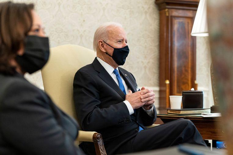 VS-president Joe Biden en vicepresident Kamala Harris. Beeld AP