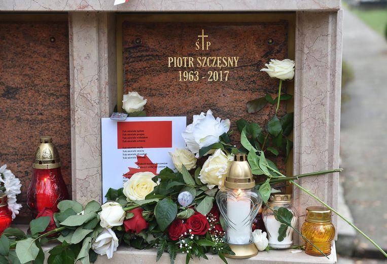 Het graf van Piotr Szczesny. Beeld epa