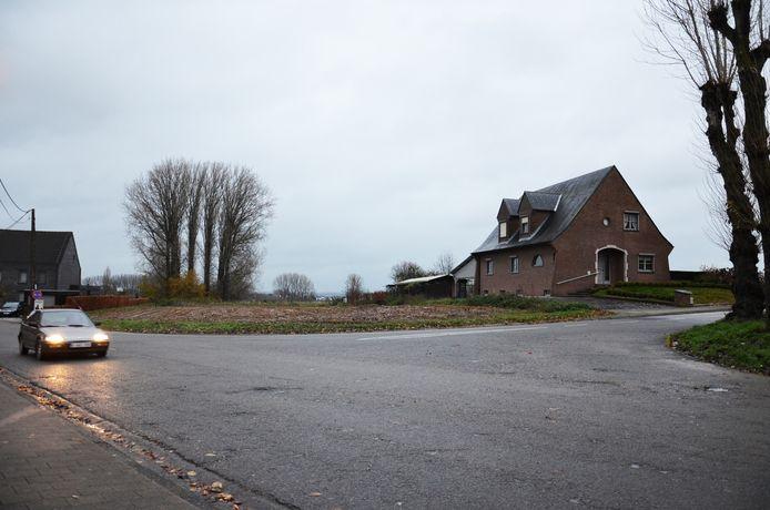 Het pleintje dat de Hoogkouterbaan verbindt met de Topmolenstraat en de Bosstraat.