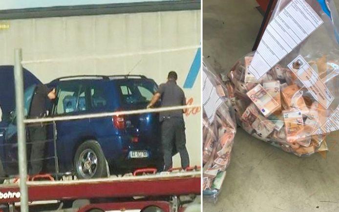 Na een gouden tip ging de Albanese politie in de haven van Durrës in auto's op zoek naar het geld.