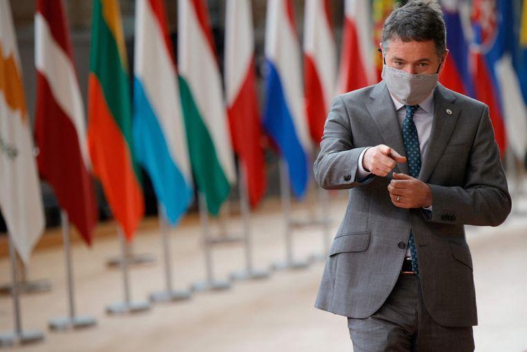 De Ierse minister van financiën Paschal Donohoe stemde als een van de weinigen tegen het belastingakkoord. Beeld AFP