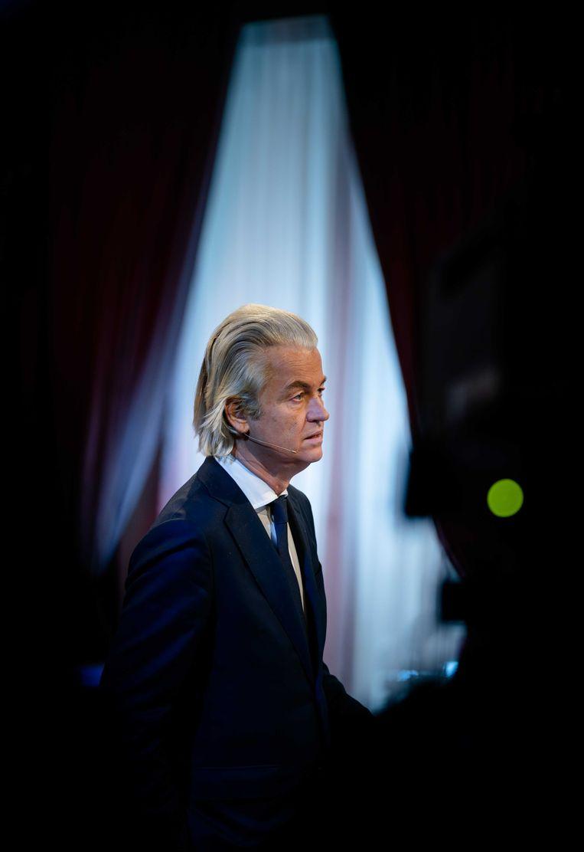 Geert Wilders (PVV) tijdens het lijsttrekkersdebat in 2008. Beeld ANP