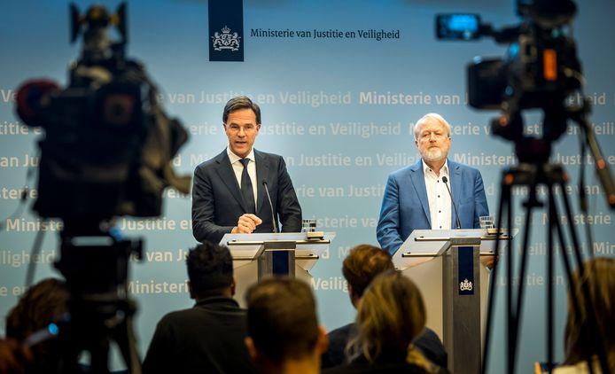 Premier Mark Rutte (links) eerder deze week.