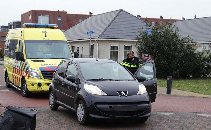 Ongeluk in Waalwijk.