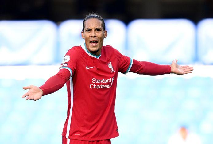 Virgil van Dijk afgelopen zondag tijdens Chelsea - Liverpool (0-2).