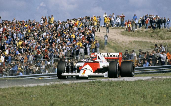 Niki Lauda op het circuit van Zandvoort