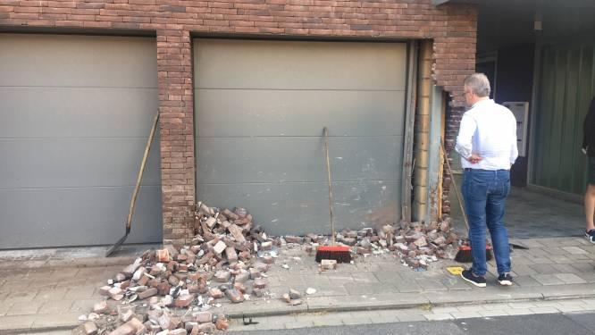 Boete en rijverbod na knal tegen hoek en garagepoort appartementsgebouw in Wevelgem