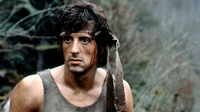 Sylvester Stallone in First Blood van Ted Kotcheff Beeld