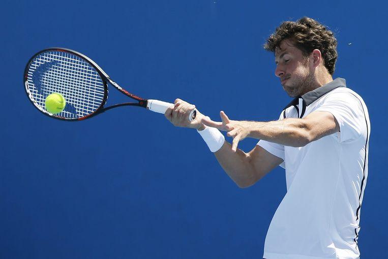 Haase in actie op de Australian Open. Beeld EPA