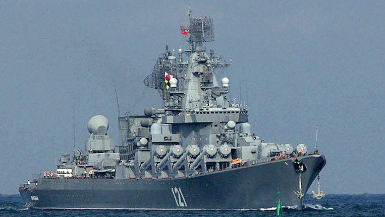 De Moskva, Russisch oorlogsschip. Beeld afp