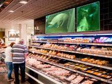 Laten we beelden uit het slachthuis afspelen in de supermarkt