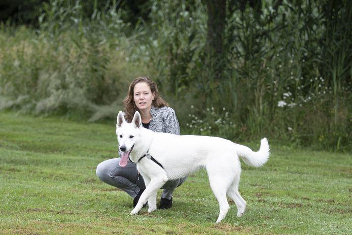 Patricia van Tol maakt zich sterk voor een hondenlosloopveld in haar woonwijk.