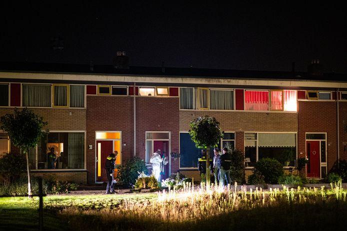 De rijtjeswoningen aan de Korte Heegde in Heerde.
