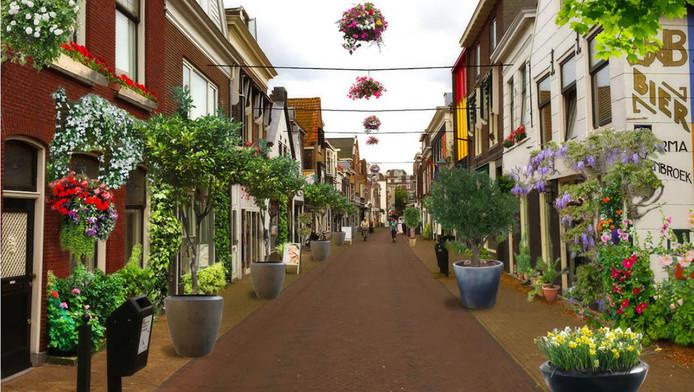 Zo zou de Hoogstraat in Vlaardingen eruit moeten komen te zien.