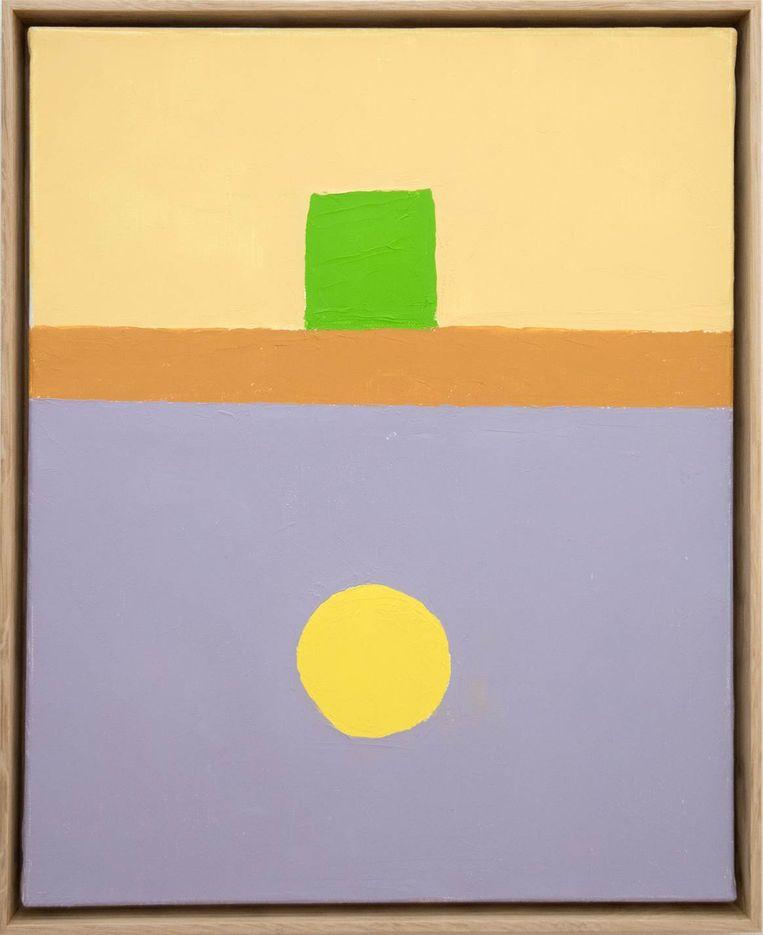 Ongetiteld schilderij van Etel Adnan (2018). Beeld Sfeir-Semler Gallery