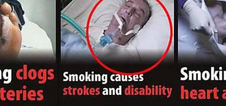 Miljoenenclaim om mysterieuze afschrikwekkende foto op sigaretten