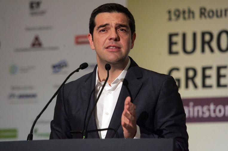 De linkse premier Tsipras had tijdens zijn kiescampagne de heropstart van de openbare omroep beloofd. Beeld EPA