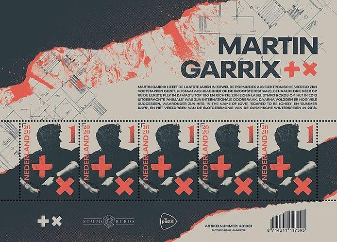 De speciale Martin Garrix-postzegels.