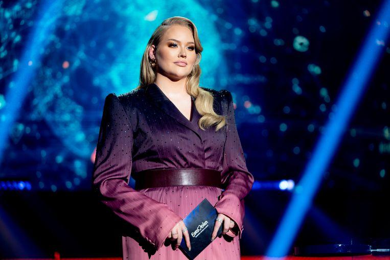 Nikkie Tutorials tijdens het Eurovisie Songfestival Beeld AP