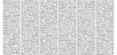 New York Times vult voorpagina met duizend namen coronadoden: 'Ontelbaar verlies'