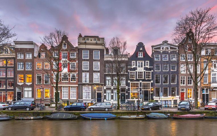 Deel van de Amsterdamse grachtengordel. Beeld thinkstock