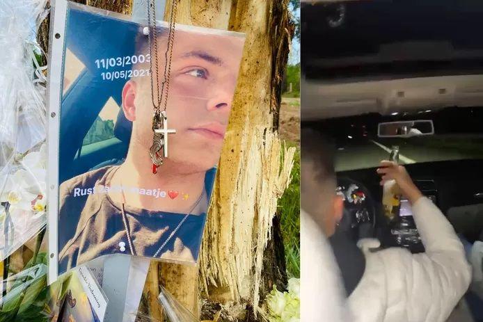 Tibau, à gauche, a perdu la vie après le crash provoqué par Ruben B. Son entourage dénonce les antécédents gravissimes du prévenu en matière de roulage.
