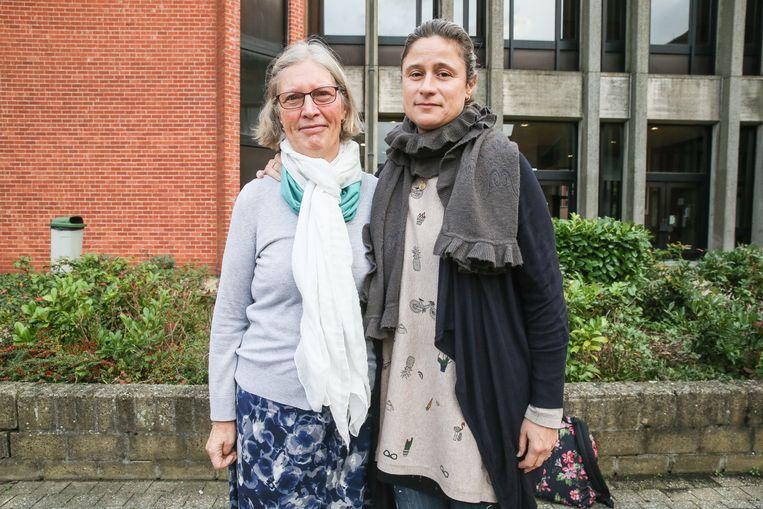 Lena Michiel en Olimpia Garcia Ortega, moeder en zus van het slachtoffer.