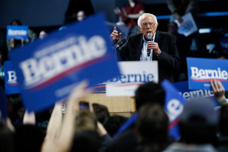 Bernie Sanders ligt momenteel op kop in de Democratische voorverkiezingen. Beeld AP
