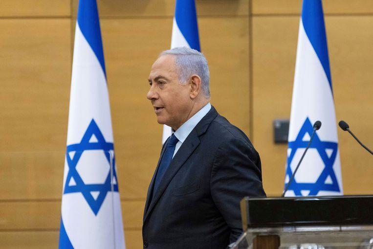 De Israëlische premier Benjamin Netanyahu. (30/05/2021) Beeld AP