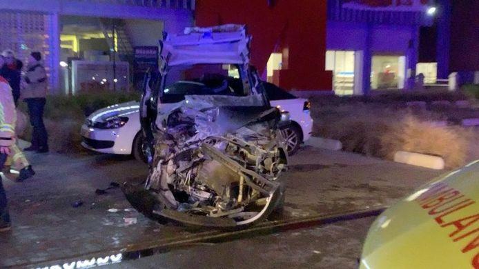 De ravage na het ongeval was groot