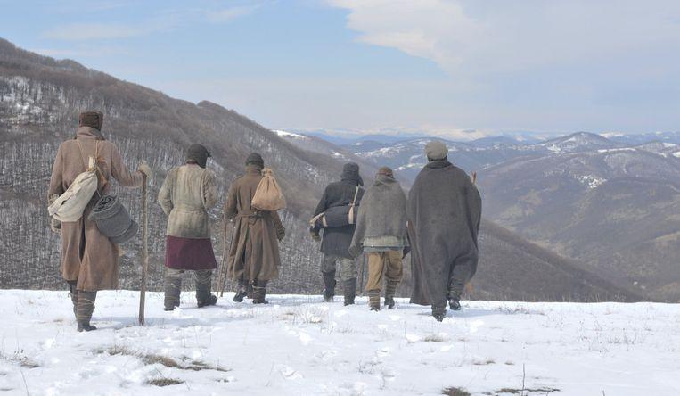 In The Way Back van regisseur Peter Weir ontsnapt een groep gevangen uit een Siberische goelag. Beeld .