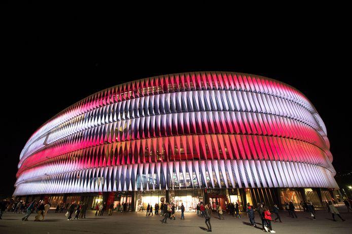 Het imposante San Mames in Bilbao zou een van de stadions zijn waar werd gevoetbald tijdens het EK van komende zomer, maar inmiddels is het de vraag of dat wel zal gebeuren.