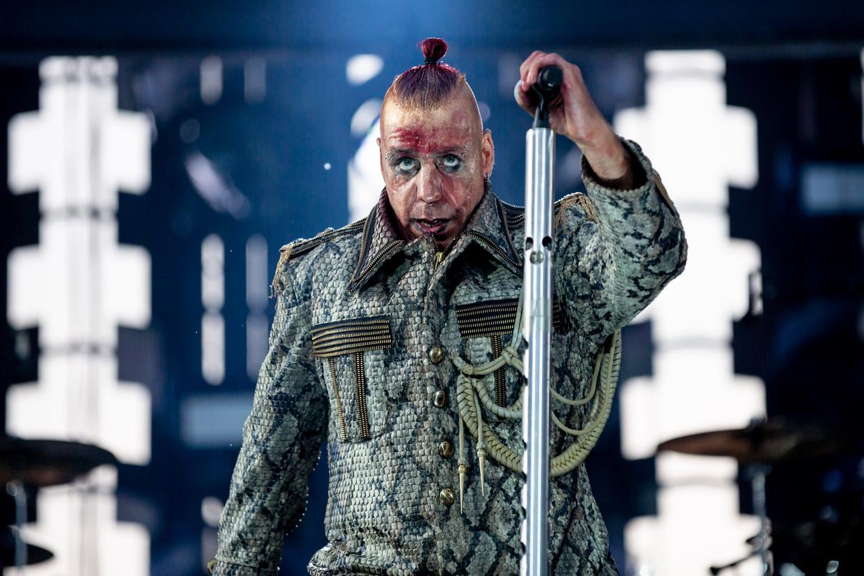 Till Lindemann is de frontman van Rammstein.  Beeld Christoph Soeder/dpa