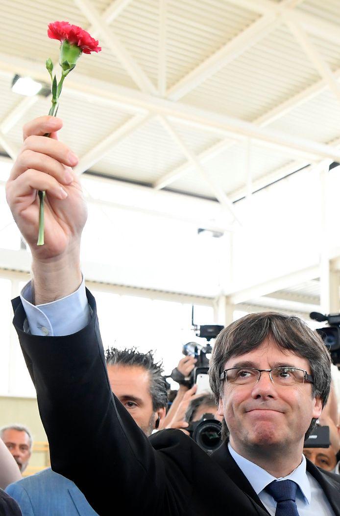 De Catalaanse premier Carles Puigdemont.