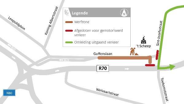 Fietsers en voetgangers kunnen wel steeds langs de werfzone passeren.