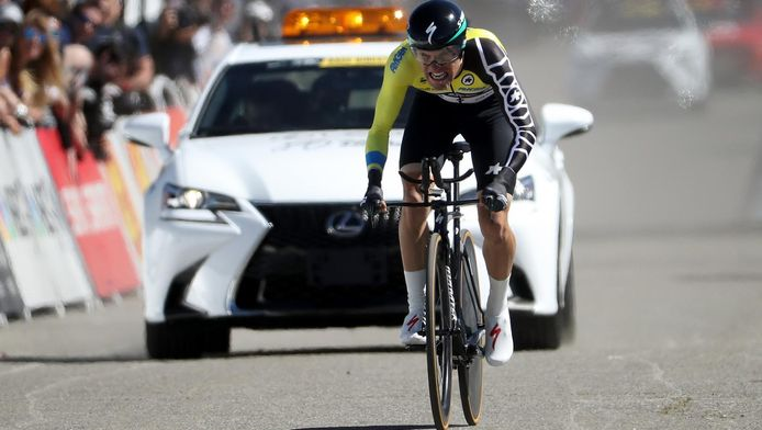 Rafal Majka, dont c'est la 2e victoire de la saison après la 2e étape du Tour de Californie, profite donc de cette étape accidentée pour prendre le maillot de leader au Slovène Luka Mezgec (Orica-Scott). Il compte désormais 0:08 d'avance sur Visconti et 0:18 sur Haig.